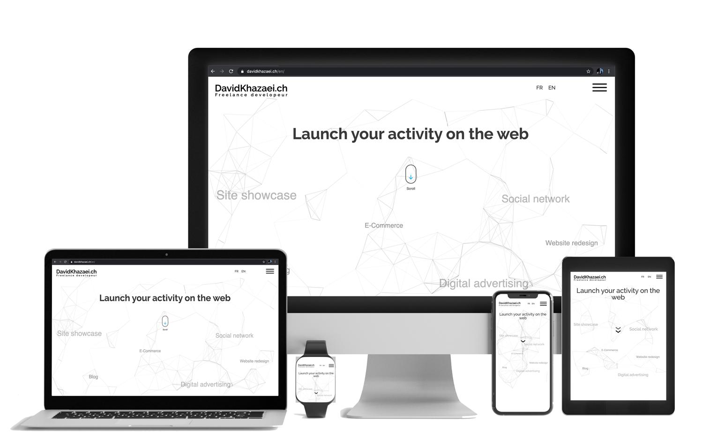Responsive design site internet